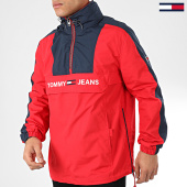 /achat-vestes/tommy-jeans-veste-outdoor-a-bandes-colorblock-popover-7369-rouge-bleu-marine-204860.html