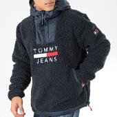 /achat-vestes/tommy-jeans-veste-capuche-outdoor-fourrure-sherpa-7374-bleu-marine-204861.html