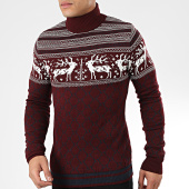 /achat-pulls/classic-series-pull-col-roule-kante-bordeaux-blanc-204896.html