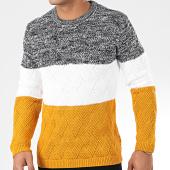 /achat-pulls/classic-series-pull-avp-110-noir-chine-blanc-jaune-moutarde-204924.html