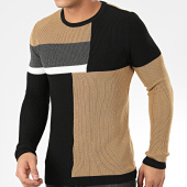 /achat-pulls/classic-series-pull-alp-301-noir-camel-204937.html