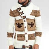 /achat-cardigans-gilets/classic-series-gilet-col-amplified-alg-335-blanc-marron-204941.html