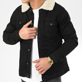 /achat-vestes-jean/classic-series-veste-jean-fourrure-3030-noir-204944.html