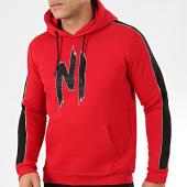 /achat-sweats-capuche/ninho-sweat-capuche-strass-a-bandes-h001-rouge-noir-204966.html