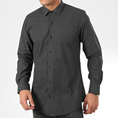 /achat-chemises-manches-longues/paname-brothers-chemise-manches-longues-ch28-noir-gris-204986.html