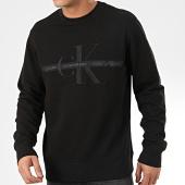 /achat-sweats-col-rond-crewneck/calvin-klein-jeans-sweat-crewneck-4127-noir-205039.html