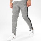 /achat-pantalons-carreaux/frilivin-pantalon-a-carreaux-et-bandes-1675-noir-blanc-beige-205006.html
