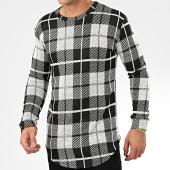 /achat-t-shirts-manches-longues/frilivin-tee-shirt-manches-longues-a-carreaux-oversize-5374-gris-noir-205024.html