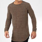 /achat-t-shirts-manches-longues/frilivin-tee-shirt-manches-longues-oversize-5372-1-marron-noir-205027.html