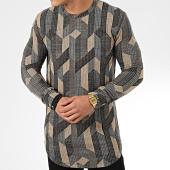 /achat-t-shirts-manches-longues/frilivin-tee-shirt-manches-longues-oversize-5372-beige-noir-gris-205029.html