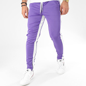 /achat-pantalons-carreaux/frilivin-pantalon-a-bandes-1565-violet-blanc-205032.html