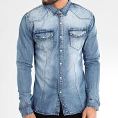 /achat-chemises-manches-longues/frilivin-chemise-jean-manches-longues-ca-629-bleu-denim-205082.html