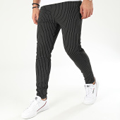 /achat-pantalons-carreaux/frilivin-pantalon-a-rayures-avec-bandes-1670-noir-205088.html