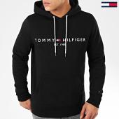 /achat-sweats-capuche/tommy-hilfiger-sweat-capuche-core-tommy-logo-0752-noir-205003.html