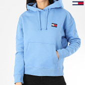 /achat-sweats-capuche/tommy-jeans-sweat-capuche-femme-tommy-badge-7787-bleu-clair-205011.html