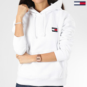 /achat-sweats-capuche/tommy-jeans-sweat-capuche-femme-tommy-badge-7787-blanc-205013.html