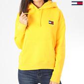 /achat-sweats-capuche/tommy-jeans-sweat-capuche-femme-tommy-badge-7787-jaune-205014.html