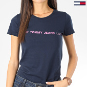 /achat-t-shirts/tommy-jeans-tee-shirt-femme-linear-logo-7799-bleu-marine-rose-205015.html