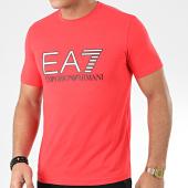 /achat-t-shirts/ea7-tee-shirt-3hpt05-pj03z-rouge-argente-blanc-205232.html