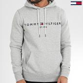 /achat-sweats-capuche/tommy-hilfiger-sweat-capuche-core-tommy-logo-0752-bleu-gris-chine-205137.html