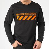 /achat-t-shirts-manches-longues/13-block-tee-shirt-manches-longues-travaux-noir-orange-205378.html