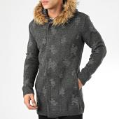 /achat-cardigans-gilets/ikao-gilet-zippe-capuche-fourrure-f3512-gris-chine-205338.html