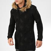 /achat-cardigans-gilets/ikao-gilet-zippe-capuche-fourrure-f3512-noir-205341.html