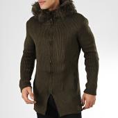 /achat-cardigans-gilets/ikao-gilet-zippe-capuche-fourrure-f3511-vert-kaki-205358.html