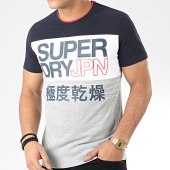 /achat-t-shirts/superdry-tee-shirt-crafted-print-colour-block-m1000075a-gris-chine-bleu-marine-205370.html