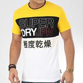 /achat-t-shirts/superdry-tee-shirt-crafted-print-colour-block-m1000075a-blanc-jaune-noir-205371.html