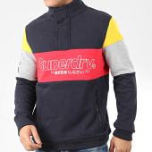 /achat-sweats-col-zippe/superdry-sweat-col-zippe-colour-block-m2000097a-bleu-marine-gris-chine-rouge-jaune-205372.html