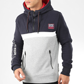 /achat-sweats-capuche/superdry-sweat-capuche-col-zippe-crafted-block-m2000099a-bleu-marine-gris-chine-rouge-205373.html