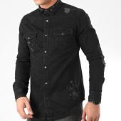 /achat-chemises-manches-longues/grj-denim-chemise-en-jean-14137-noir-205539.html