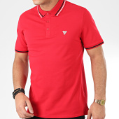 /achat-polos-manches-courtes/guess-polo-manches-courtes-m01p40-k7o60-rouge-205390.html