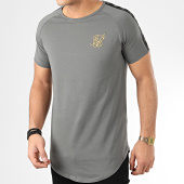 /achat-t-shirts-longs-oversize/siksilk-tee-shirt-oversize-a-bandes-raglan-tape-14965-gris-dore-205563.html