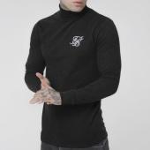 /achat-t-shirts-manches-longues/siksilk-tee-shirt-col-roule-manches-longues-poly-slub-15163-noir-chine-205564.html