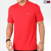 /achat-polos-manches-courtes/tommy-jeans-polo-manches-courtes-classics-solid-7196-rouge-205549.html