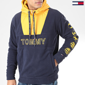 /achat-sweats-zippes-capuche/tommy-jeans-sweat-col-zippe-capuche-tommy-logo-7397-bleu-marine-205551.html