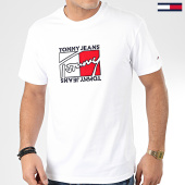 /achat-t-shirts/tommy-jeans-tee-shirt-flag-script-7433-blanc-205553.html