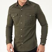 /achat-chemises-manches-longues/uniplay-chemise-jean-manches-longues-181-vert-kaki-205392.html