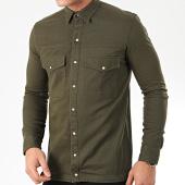 /achat-chemises-manches-longues/uniplay-chemise-jean-manches-longues-182-vert-kaki-205423.html