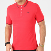 /achat-polos-manches-courtes/emporio-armani-polo-manches-courtes-8n1f30-1jptz-rouge-205582.html