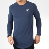 /achat-t-shirts-longs-oversize/siksilk-tee-shirt-oversize-manches-longues-core-gym-15817-bleu-marine-205572.html