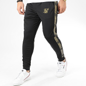 /achat-pantalons-joggings/siksilk-pantalon-jogging-avec-bandes-gold-edit-cuffed-cropped-14931-noir-dore-205577.html