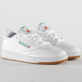 /achat-baskets-basses/reebok-baskets-femme-club-c-85-cm9925-white-green-gum-205627.html