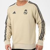 /achat-sweats-col-rond-crewneck/adidas-sweat-crewneck-a-bandes-real-madrid-ei7468-dore-noir-205863.html