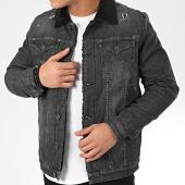 /achat-vestes-jean/classic-series-veste-jean-col-mouton-7092-gris-anthracite-noir-205818.html