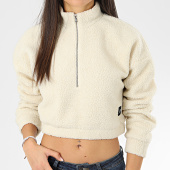 /achat-sweats-col-zippe/sixth-june-sweat-col-zippe-femme-crop-fourrure-mouton-w4074ksw-beige-205891.html