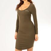 /achat-robes/sixth-june-robe-pull-femme-w4072kdr-vert-kaki-205921.html