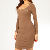 /achat-robes/sixth-june-robe-pull-femme-w4072kdr-marron-205922.html